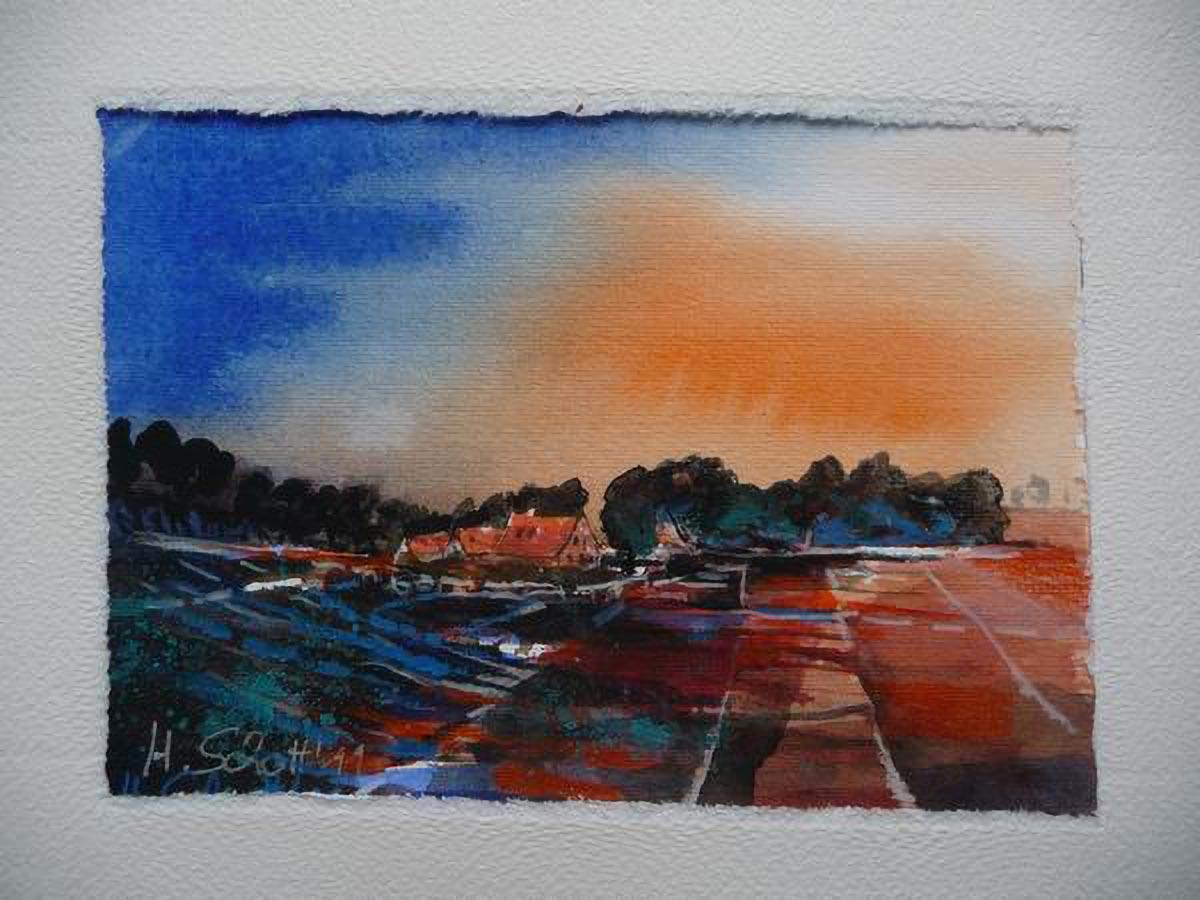 19. Blick auf Solzow | Aquarell | 40 x 30 cm