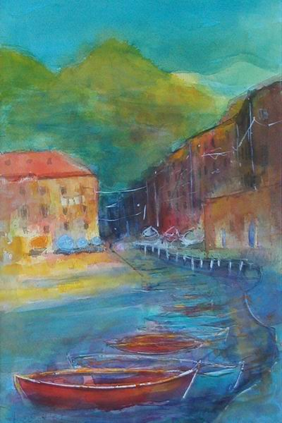 259. Vernazza-Hafen | Aquarell | 40 x 50 cm