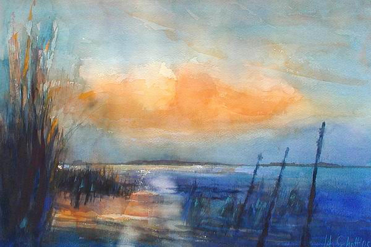 323. Stille | Aquarell | 50 x 40 cm