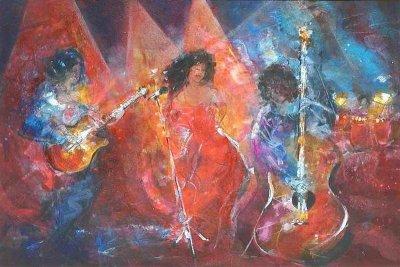 327. Concerto espaniol | Aquarell | 70 x 90 cm