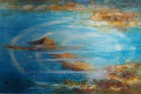 353. Im See | Aquarell | 40 x 50 cm