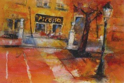 386. Malaga-Bar Picasso | Aquarell | 50 x 40 cm