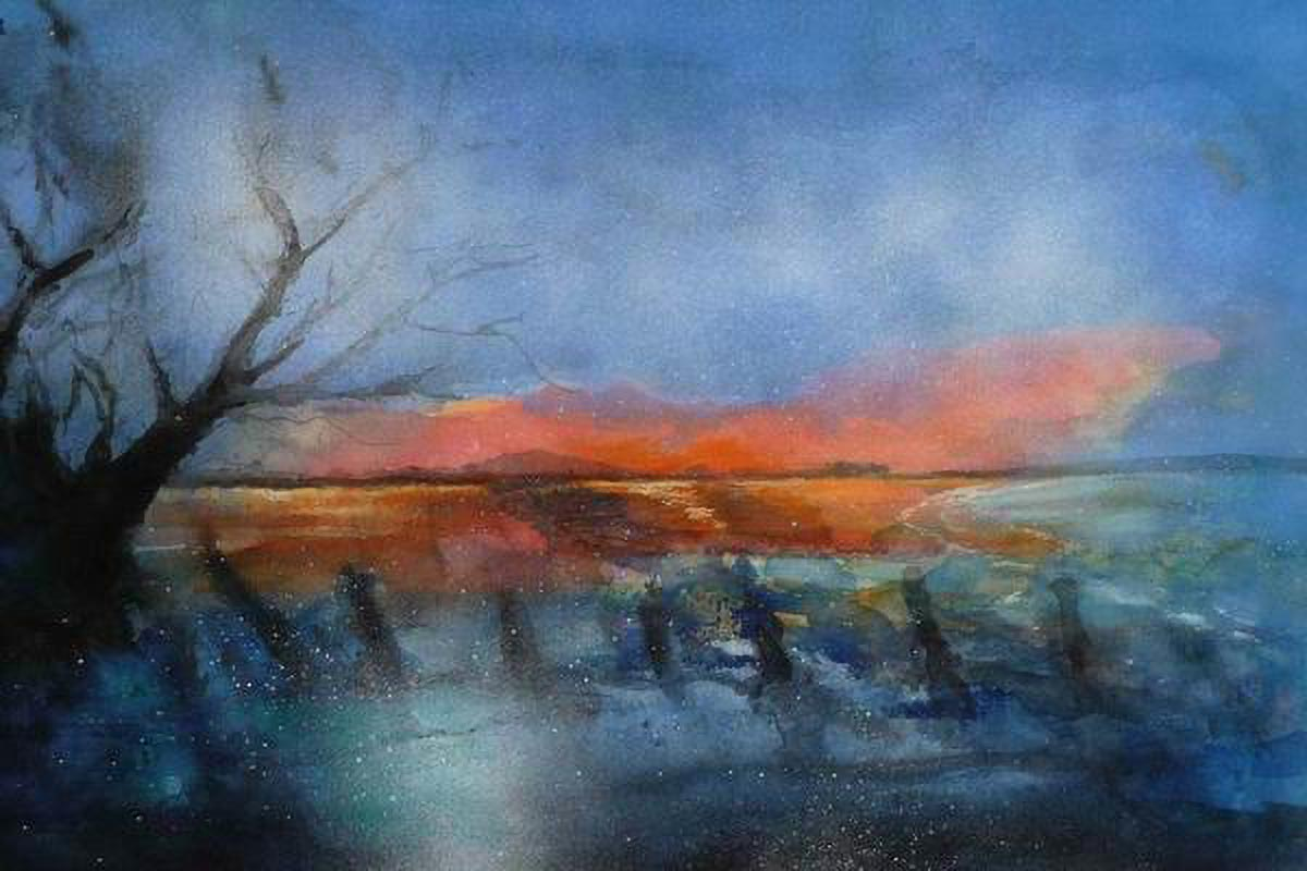 415. Winter am See | Aquarell | 50 x 40 cm