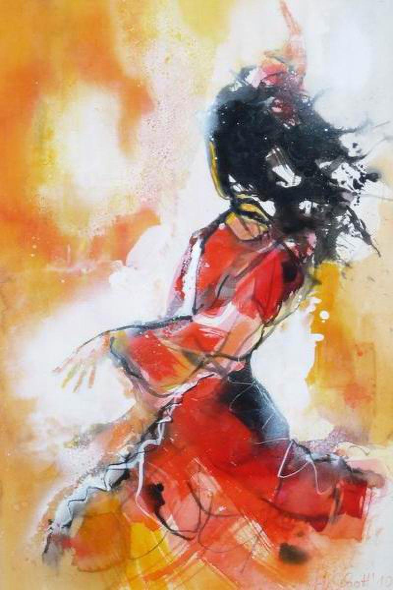 437. Tänzerin |Aquarell | 50 x 70 cm