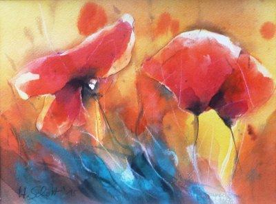 505. Mohnblumen | Aquarell | 40 x 30 cm