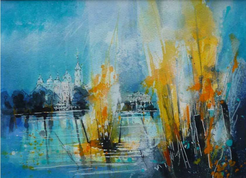 519.Schloss Klink |Aquarell | 50 x 40 cm