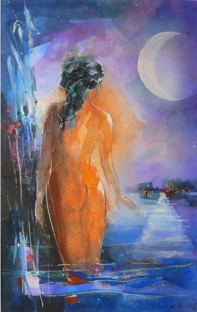 524. Melancholie II | Aquarell | 50 x 70 cm