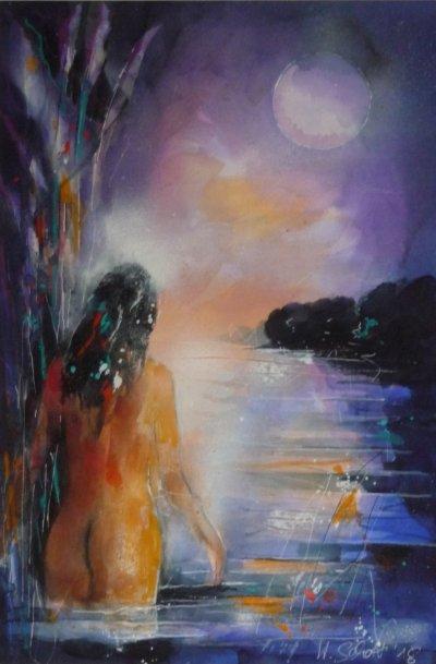 537. Die Badende | Aquarell | 50x70 cm